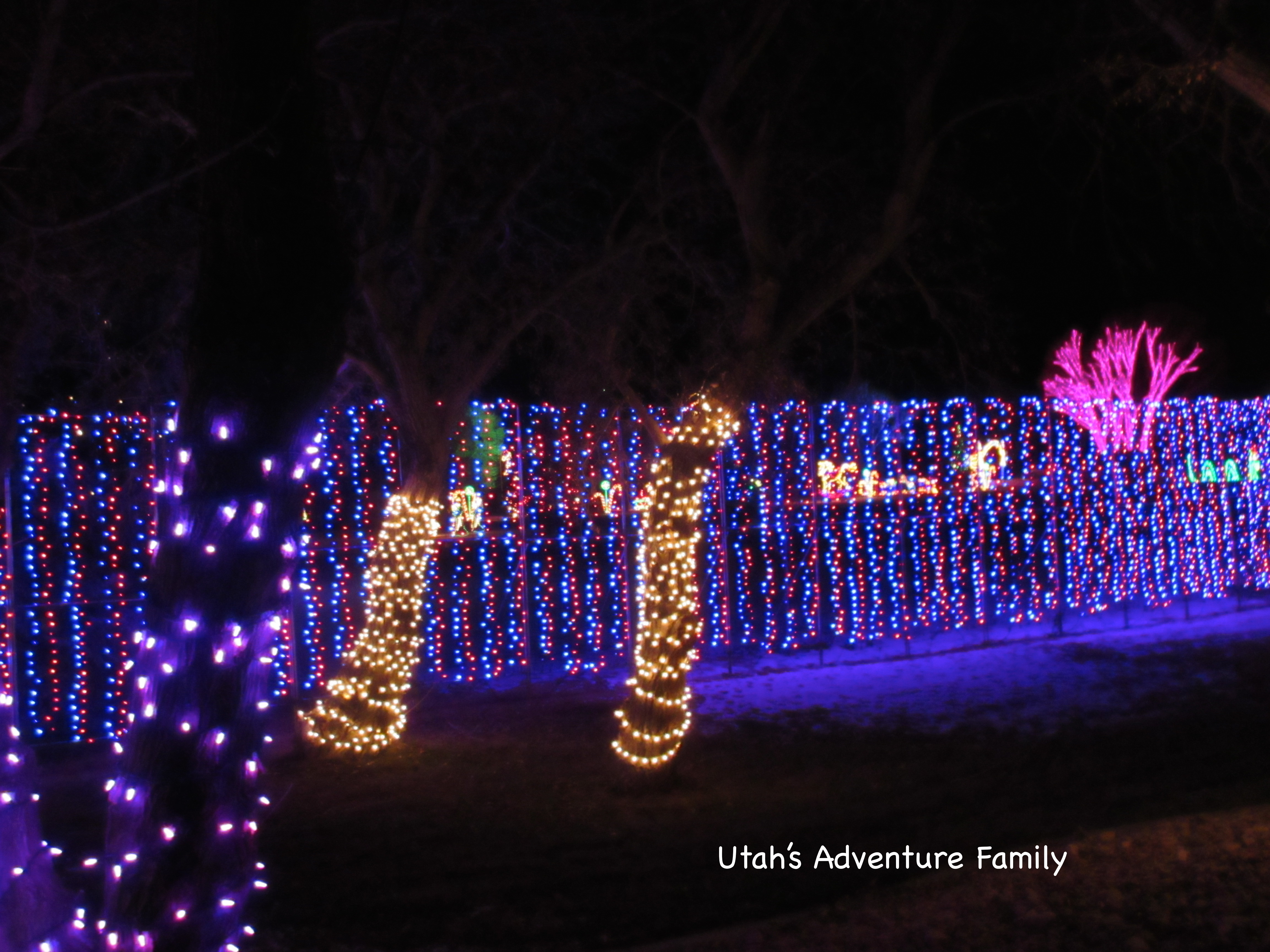 this wall of lights was a new feature in 2014 - Spanish Fork Christmas Lights
