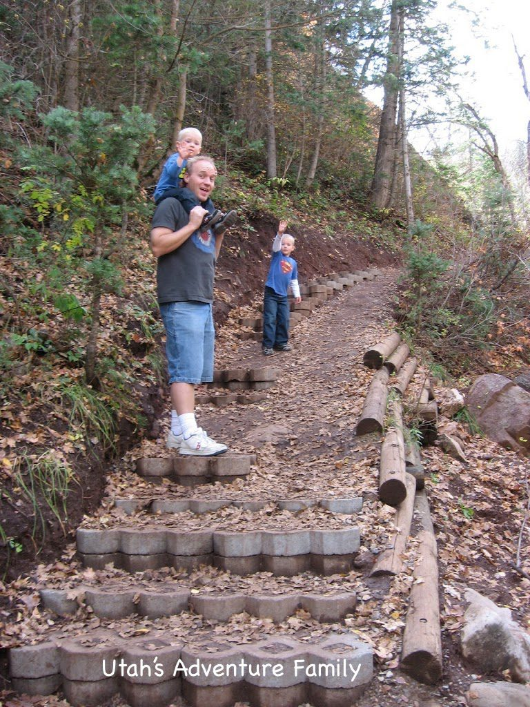 My boys loved these stairs built into the trail.