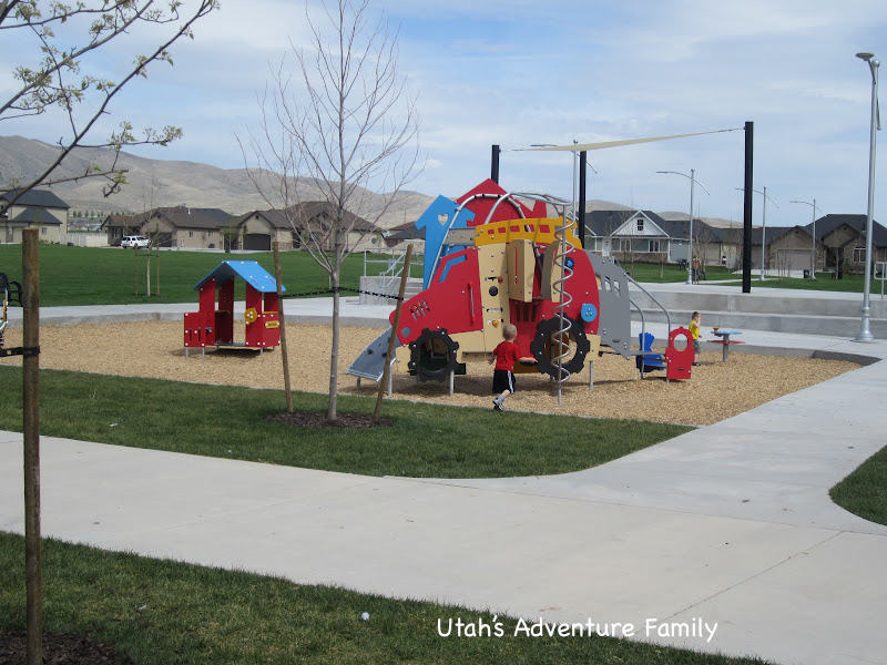 The toddler playground is perfect for smaller children.