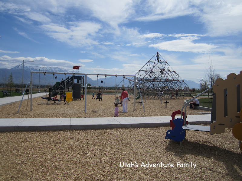 This is the larger playground with the pyramid!