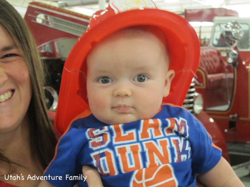 Our baby enjoyed being a firefighter.