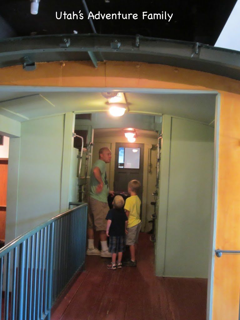 An old train car in the museum.