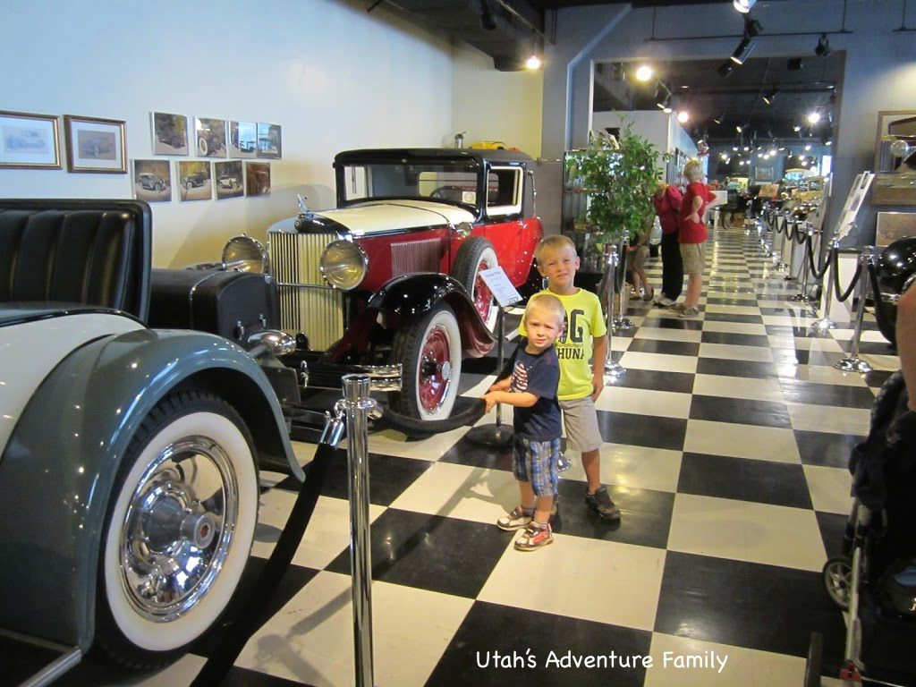 Inside the Car Museum...the old cars were fascinating.
