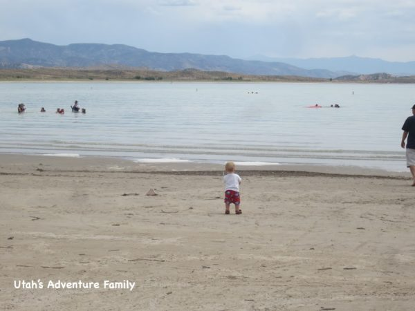 The sand is really soft at Yuba Lake State Park.