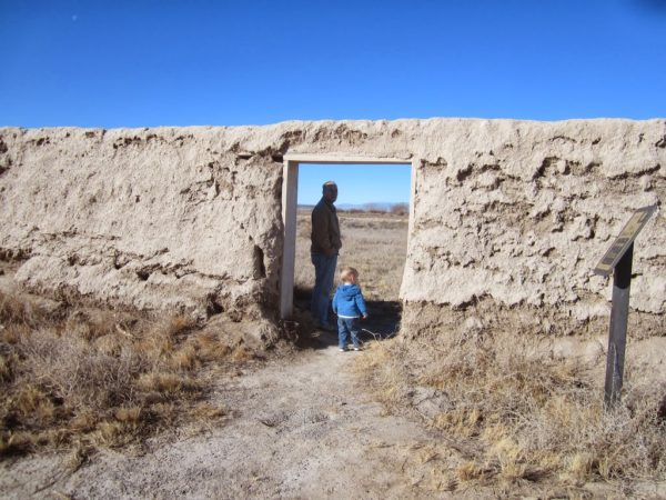 Fort Deseret front wall and door