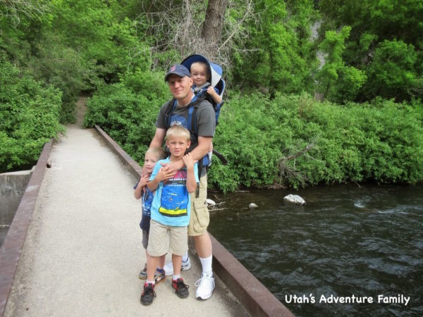 You cross the Provo River at the start of the hike.