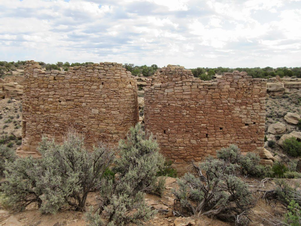 Tower ruins in Hovenweep National Monument