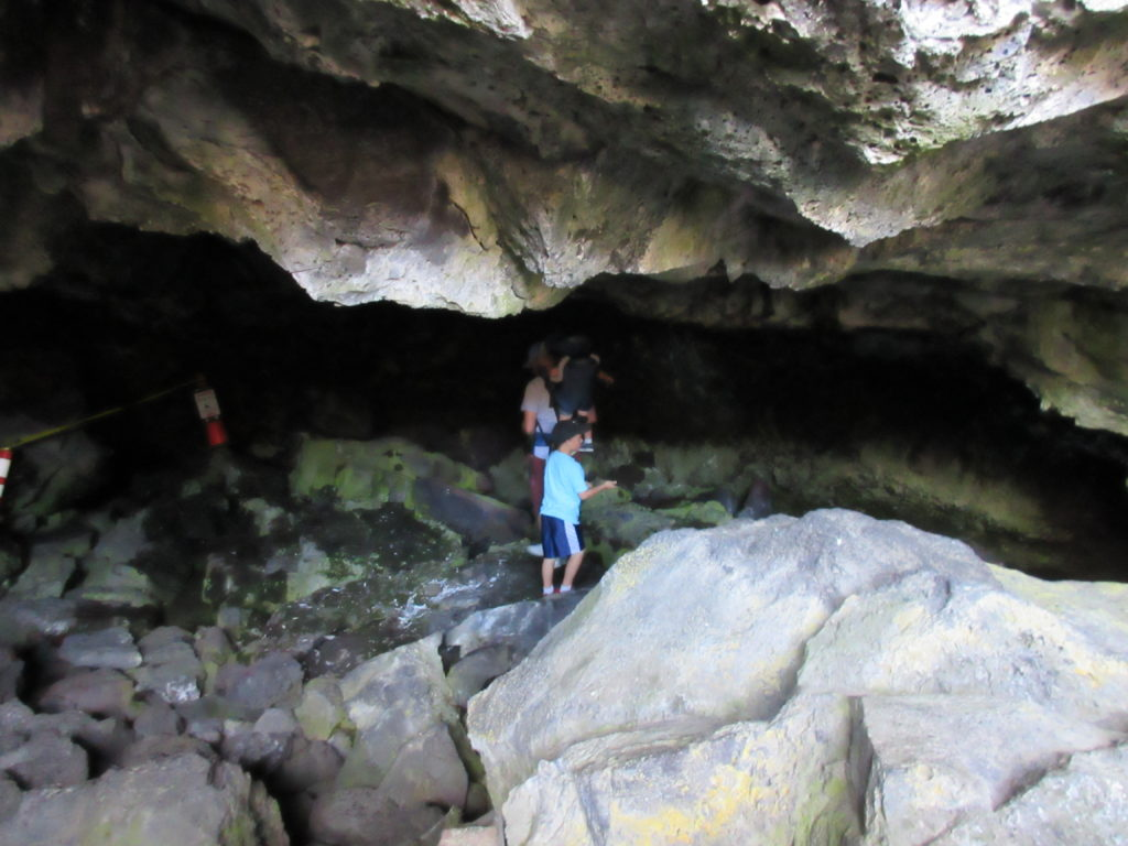 Dewdrop Cave is just a small area to walk in.
