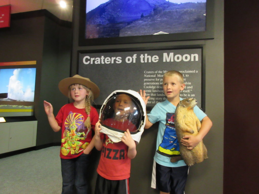 The Junior Ranger program was so fun! They got to dress up when they took their oath.