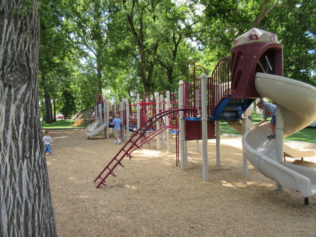 It has a large playground!