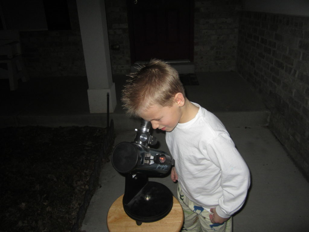 Our boys love using the telescope.