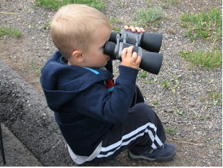 Even our little guy can use the binoculars.