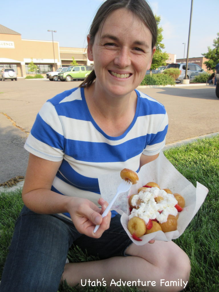 The strawberries and cream donuts were pretty delicious.