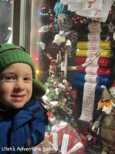 "He found his name on the ""nice list""--good work buddy!"