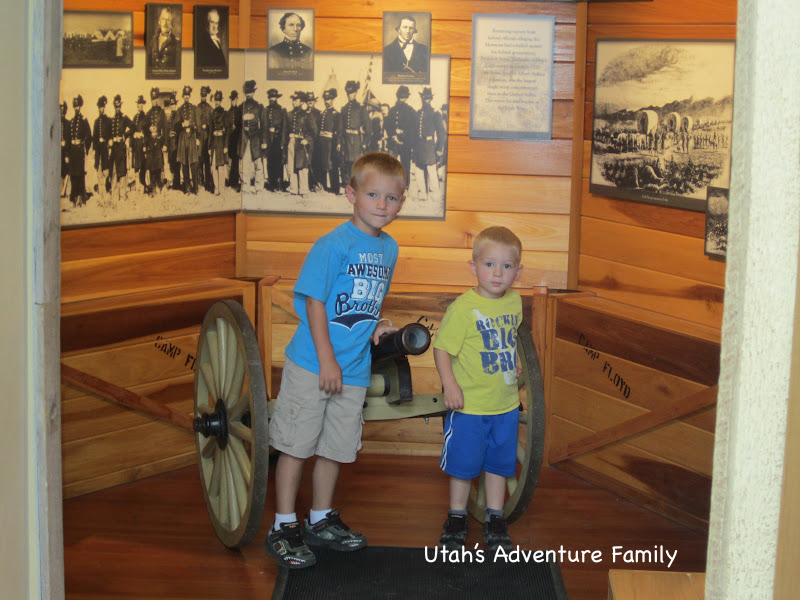 By far, the boys' favorite item in the museum--the cannon!