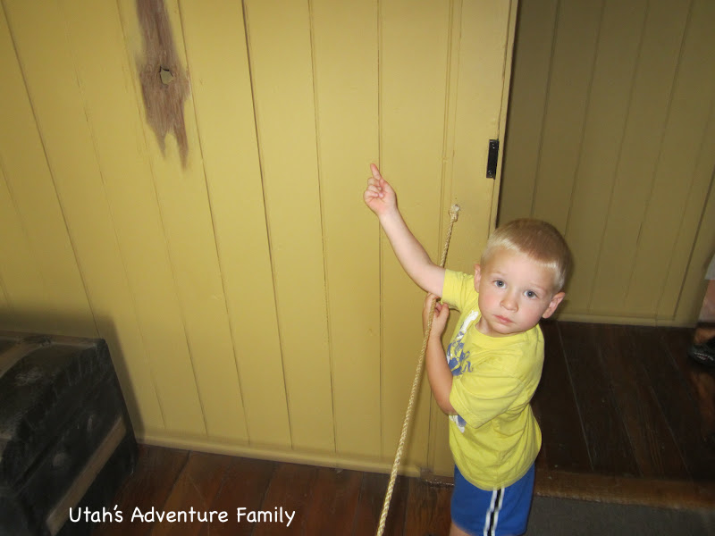 The boys also loved the bullet hole.