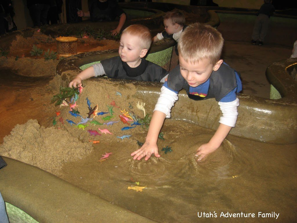 The erosion table is our boys favorite place to visit. But watch out...they will be wet!