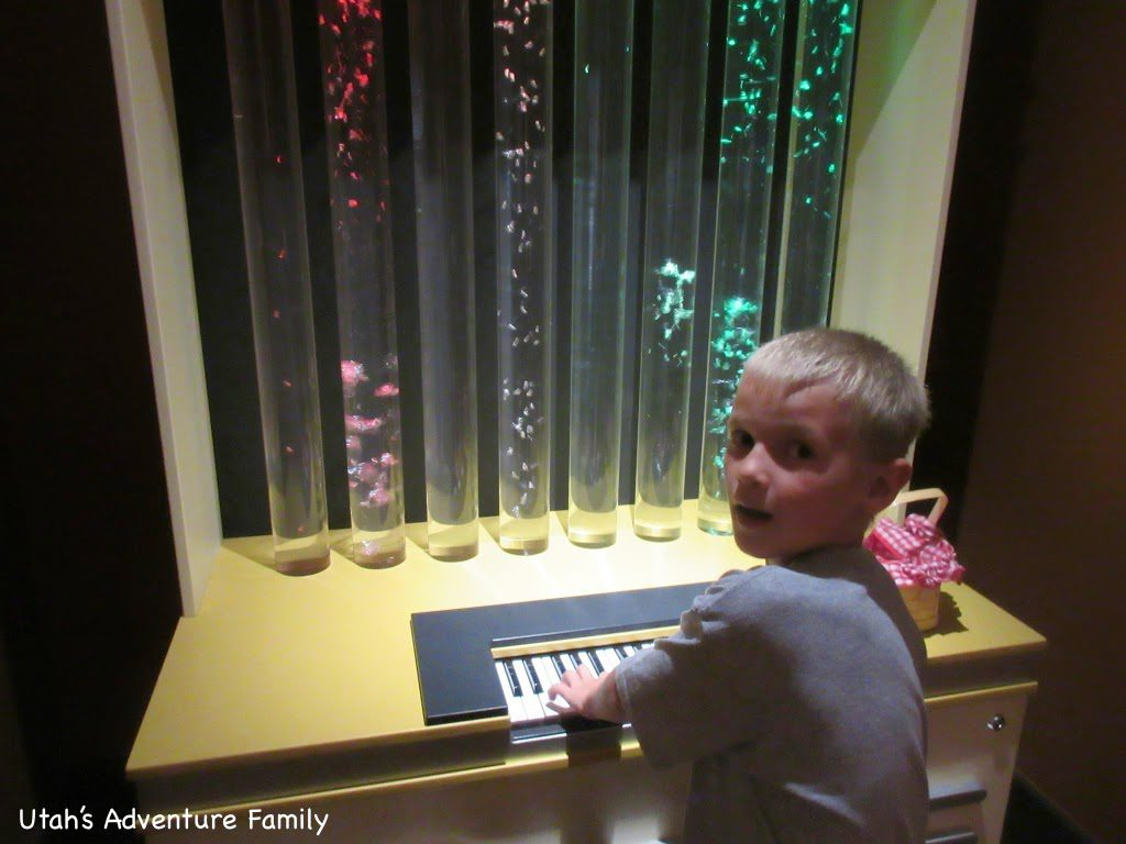 Playing the bubble piano.