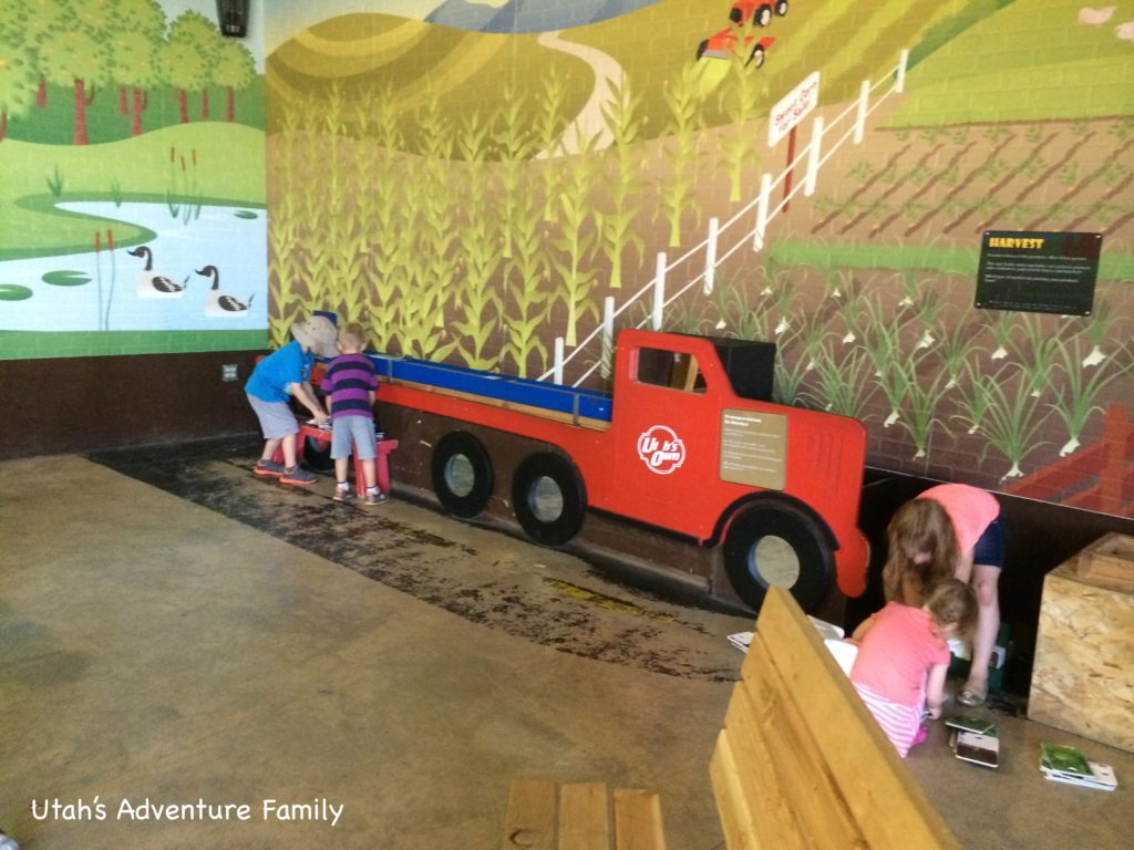 The truck conveyor belt is a lot of fun for the kids!