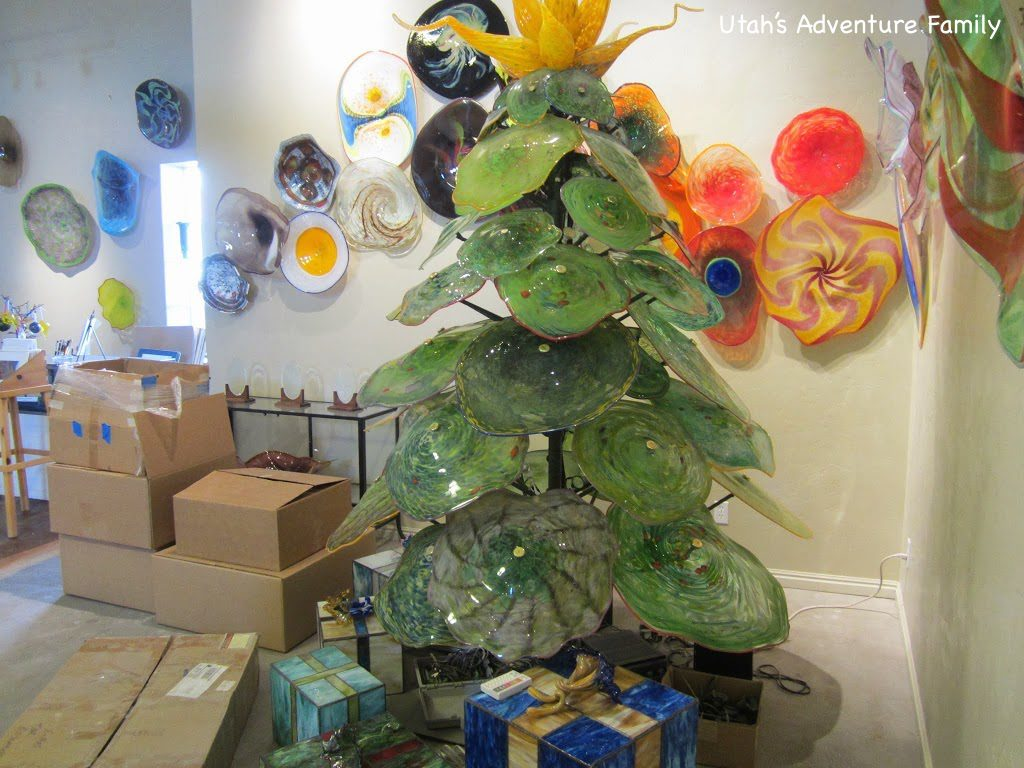 We LOVED this Christmas tree and presents.