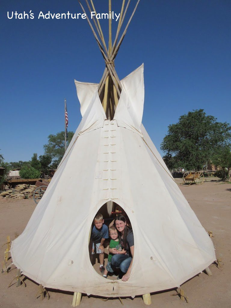 There are a lot of fun things for the kids, like this tepee.