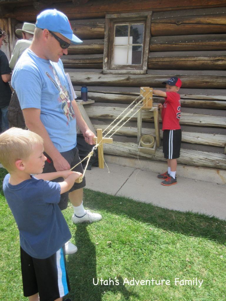 We made rope as one of the extra activities going on for Junior Archeology day.