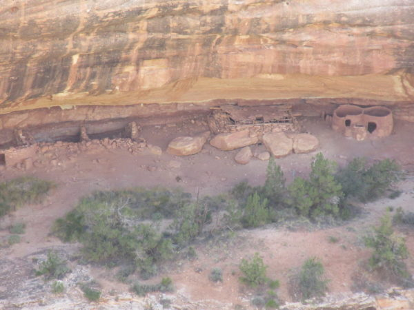 The ruins are across the canyon, but they are well preserved.