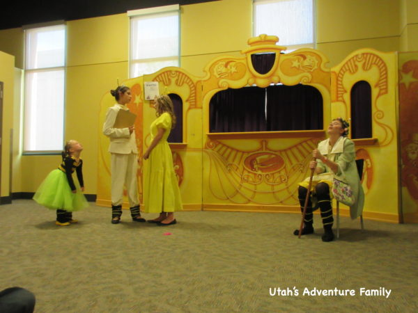 The children's play was actually entertaining.