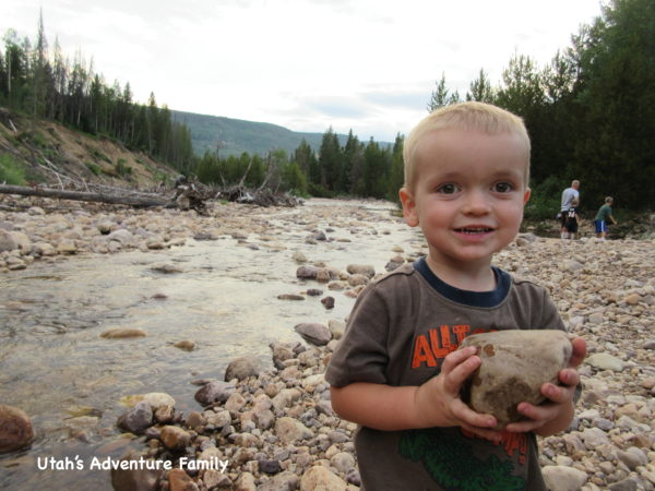 You can walk over to the Provo River and throw rocks all night long!
