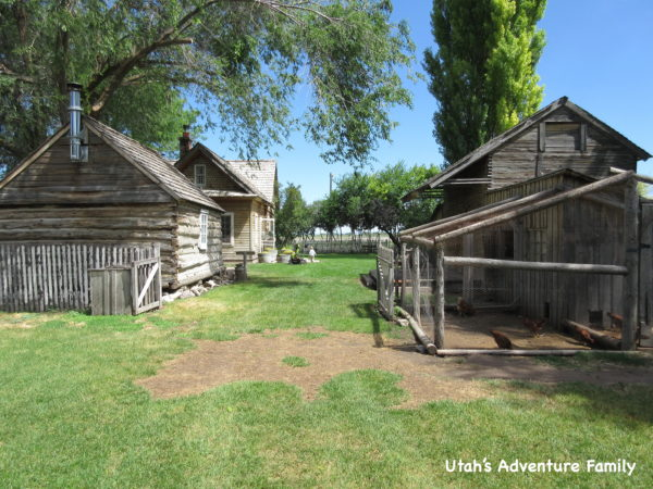 There are lots of buildings to explore in the farm area.