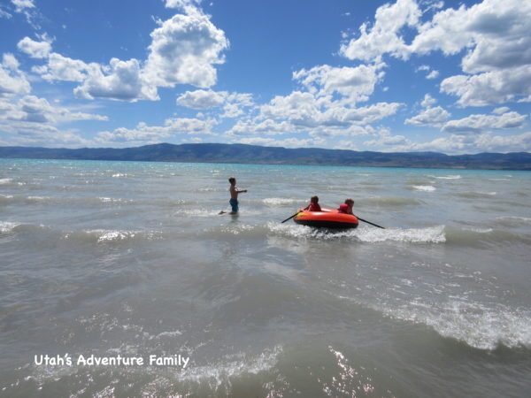 The water is so shallow! It makes it fun for the kids to be able to play in the water.