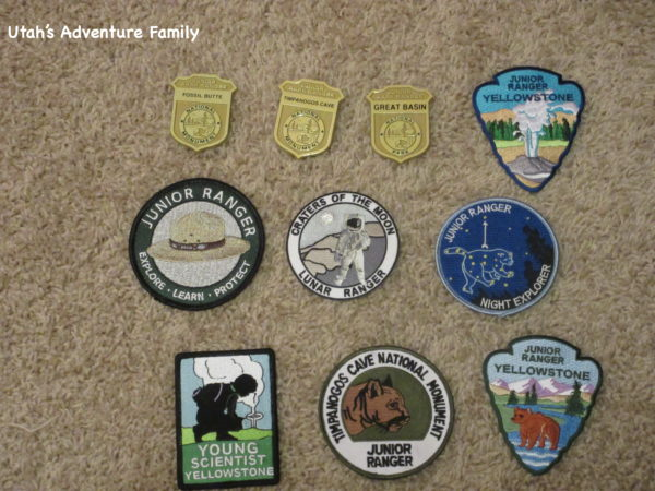 The federal sites sometimes offer patches, sometimes badges. At Timp Cave, you even get a choice.