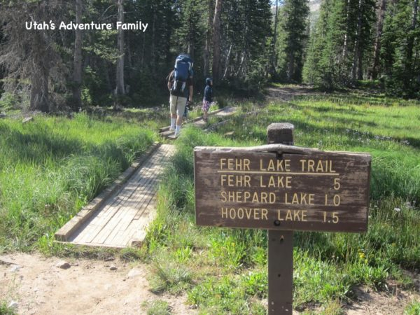 Don't be fooled by the sign. Fehr Lake is .5 miles,  but Shepard is really 1.5, the Hoover another bit after that.