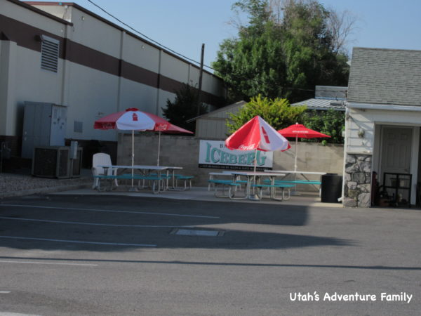 There are a few tables outside, but you can also see the house that still sits behind the restaurant.
