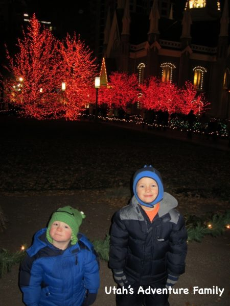 Our boys enjoyed the lights on Temple Square a ton...even if dad was hating the crowds.