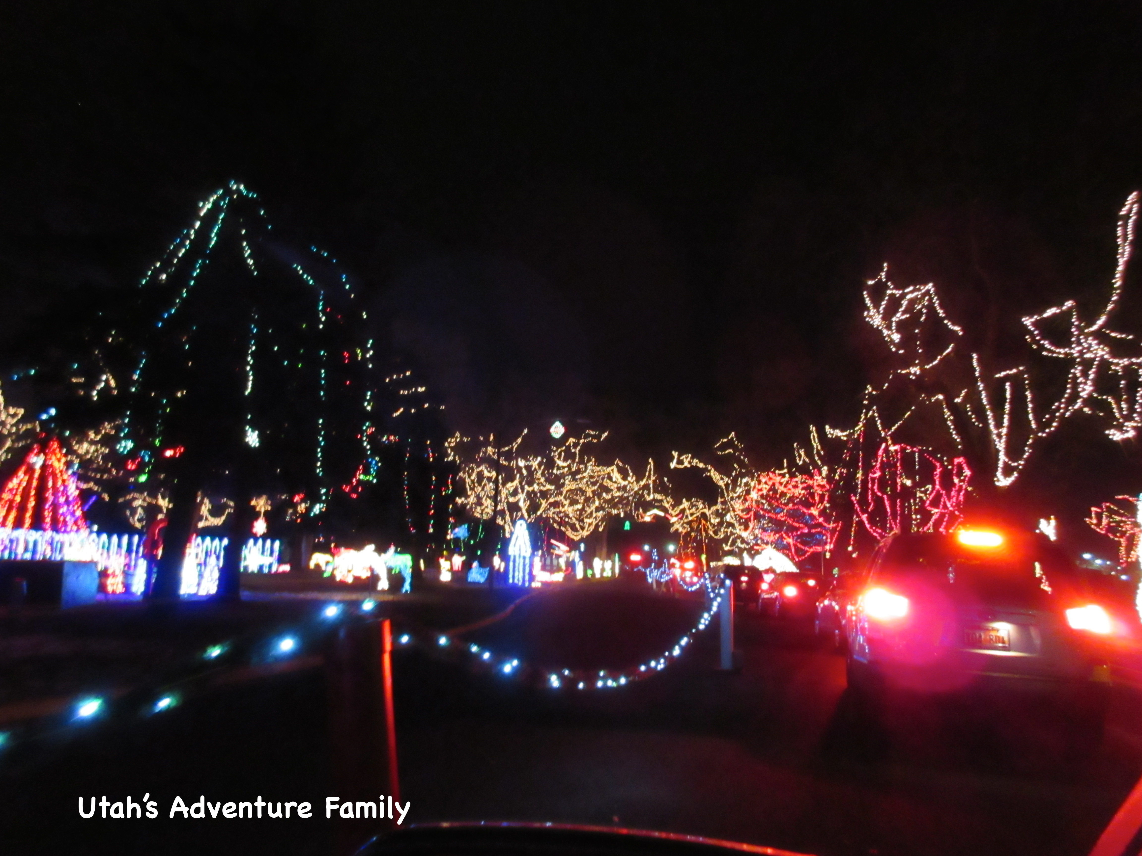 you ride right through the lights on the wagon - Willard Bay Christmas Lights