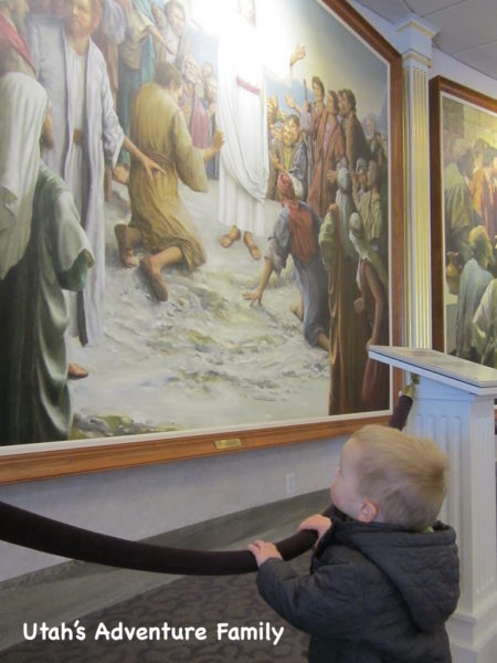 Our one year old loved all the pictures of Jesus.