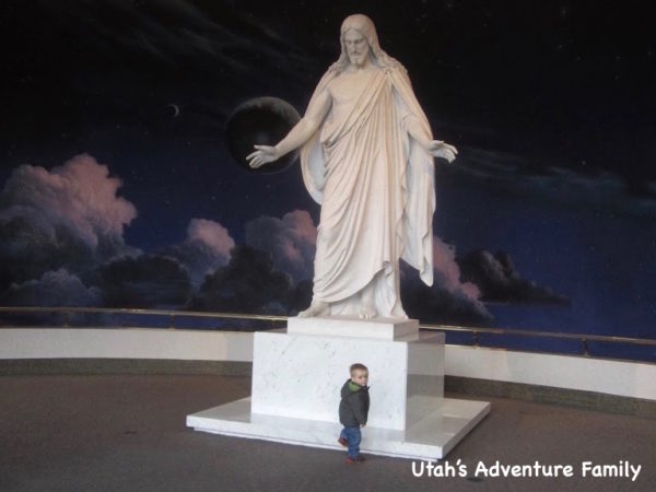 We always love walking upstairs to see the beautiful Christus statue.