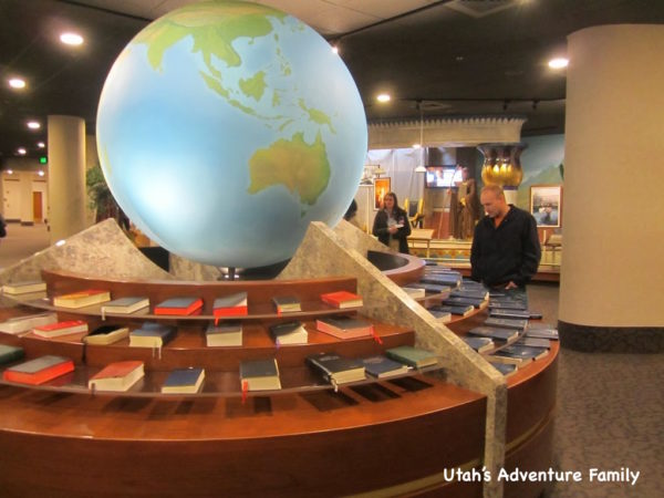 We love this display of the Book of Mormon in different languages.