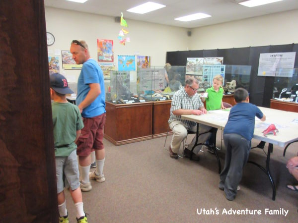 Activity room at St. George Dinosaur Museum