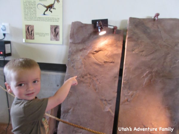 st. george dinosaur discovery site at johnson farm tracks