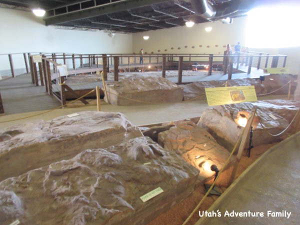 exhibits at St. George Dinosaur Discovery Site at Johnson Farm
