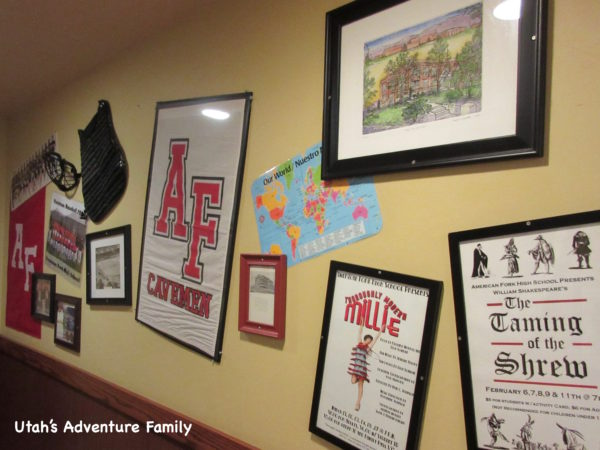 We love the decor in JCWs. They have local schools and sports memorabilia on display (this is at the JCWs in American Fork).