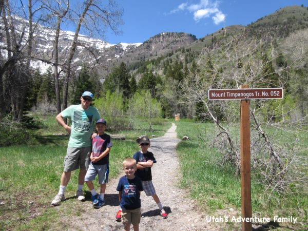 This sign marks the start of the trail to Mt. Timpanogos.
