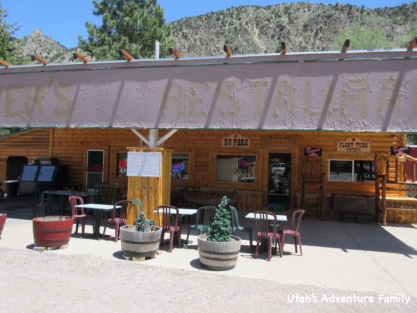 Hoovers Grille is part of a larger resort with cabins, an RV park, and ATV rentals.