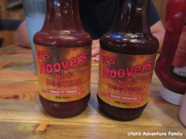 These sauces are made in house, and they are both great. We put some on our hamburger and pulled pork sandwich.