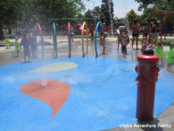 The splash pad is small, but still a great place to get wet.