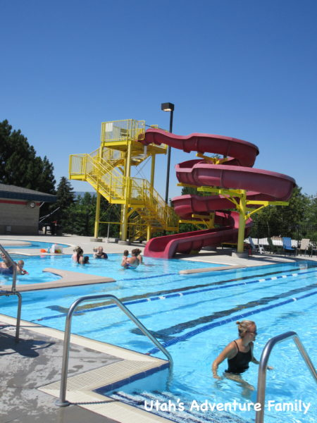 The big red slide is very popular with the bigger kiddos!