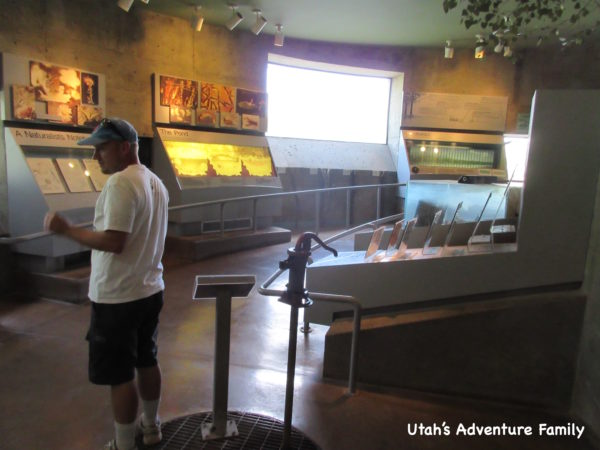There is also a small museum with information about wetlands and rivers. We spent a few minutes in here.