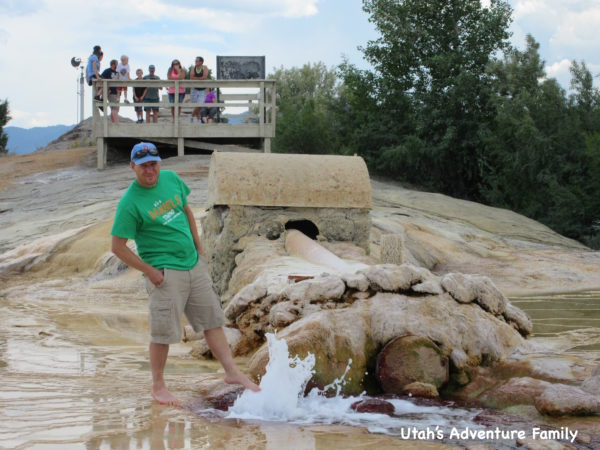 Dad even got brave and put his foot into the bubbles when we knew the geyser wasn't going to erupt.